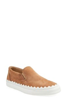 Chloé 'Ivy' Scallop Slip-On Sneaker (Women) available at #Nordstrom