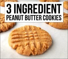 *Yummy and only three ingredients-you can't go wrong with this classic*I've been craving peanut butter cookies