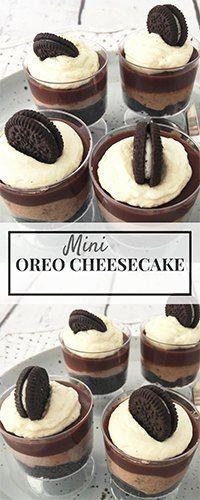 Oreo Cheesecake These Delicious Cookies And Cream Mini Cheesecakes