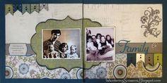 Wandering Scissors: Close To My Heart Avonlea & Cricut Artiste Layout Scrapbook Examples, Scrapbook Sketches, Scrapbook Page Layouts, Book Layouts, Scrapbook Paper Crafts, Diy Scrapbook, Scrapbook Pages, Vintage Scrapbook, Wedding Scrapbook