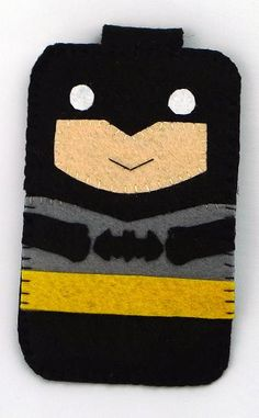 Hero collection Handmade Batman iphone, iphone 4S felt cell phone case (FREE SHIPPING). $18.00, via Etsy.