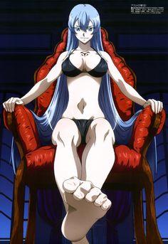 Haruhichan.com Megami MAGAZINE October 2014 posters akame_ga_kill! bikini cleavage esdeath feet nakamura_kazuhisa swimsuits