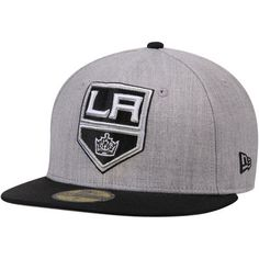 0d24ae3f495e3 Los Angeles Kings New Era Fashion 59FIFTY Fitted Hat - Heathered Gray Black