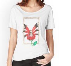 Rose Secret Fairy Relaxed Fit T-Shirt Chiffon Shirt, Chiffon Tops, Buy Roses, Long Hoodie, Wearable Art, Laptop Sleeves, Legends, Classic T Shirts, Shirt Designs