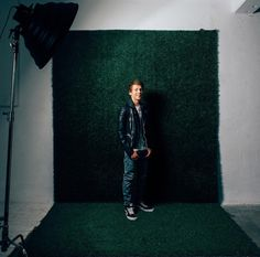 Spent the morning in studio photographing actor @jb_mixmatch #dtla #grassbackground #bts #studiophotography #sonyimages #actor