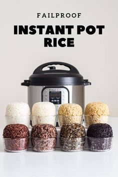 Here is your fail-proof guide for Instant Pot Rice. Instant Pot white rice, Instant Pot brown rice, instant pot wild rice, and many more, basically an encyclopedia about cooking rice in an electric pressure cooker. Cooking Wild Rice, Fun Cooking, Healthy Cooking, Cooking Time, Cooking Recipes, Cooking Pork, Cooking Salmon, Cooking Turkey, Healthy Food