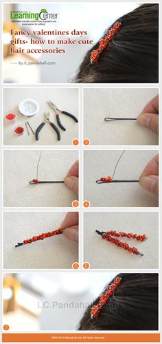How to Make Beaded Hair Accessories- DIY Cute Beaded Bobby Pin for Valentine's Day