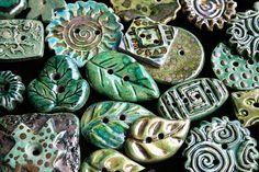 Raku Buttons by Lisa Peters Art, via Flickr