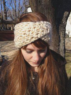 Crochet Knit Turban Headband  Oatmeal & by aprilshandmadegoods, $19.00