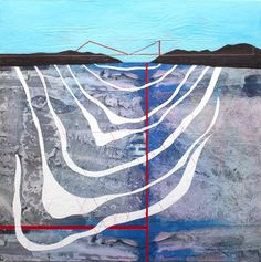 """Bridging the Gap,"" original figurative painting by artist Sarah Winkler (USA) available at Saatchi Art #SaatchiArt."
