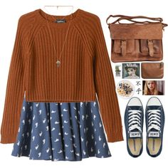 A fashion look from October 2014 featuring Chicnova Fashion dresses, Monki sweaters and Converse sneakers. Browse and shop related looks.