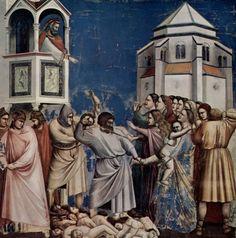 Giotto Strage degli Innocenti 1303-1305 tecnica affresco Padova Cappella degli Scrovegni