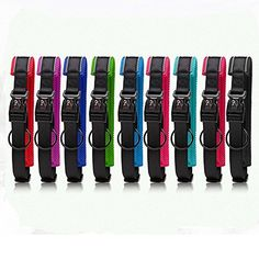Glow Castle High quality reflective nylon dog collar adjustable classic dog collars Matching Leash  Harness Available SeparatelyLSmall * You can get more details by clicking on the image.