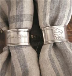 Buy Bon Appetit Napkin Ring Set of 4 online with free shipping from thegardengates.com