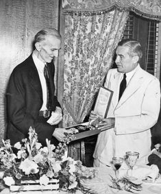 Tesla receives the Order of the White Lion from the Czechoslovak governments, July, 11, 1937.