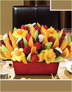 Edible Arrangements... YUMMM!  And pretty too.