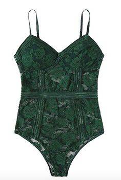 Green Lace, Lace Bodysuit, Tops, Women, Fashion, Moda, Lace Body, Fashion Styles, Shell Tops