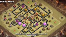OMG These anti dragon base designs are really cool because of which dragons stopped flying after seeing this town hall 8 base layouts and killed themselves. Clash Of Clans Levels, Clash Of Clans Game, Supercell Clash Of Clans, Dragon Base, War, Geek, Geeks