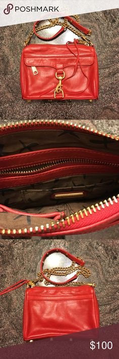 Rebecca minkoff bag Used in good condition, tiny black dot on the back on the purse, price firm Rebecca Minkoff Bags Crossbody Bags