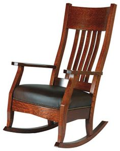 33% OFF Amish Furniture - Hand Crafted Shaker and Mission Furniture Online Outlet Store: Mission Rocker: Oak