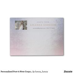 Personalized Post-it Note Corporate Glam astel Post-it® Notes