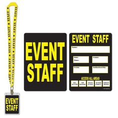 Guests will look official at your themed party with these event staff party…