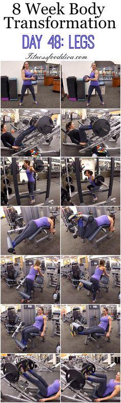 8 Week Body Transformation: Day 48 LEGS.
