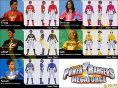 Power Rangers Megaforce by vik94