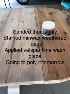 Furniture Projects, Furniture Makeover, Wood Projects, Painted Furniture, Diy Furniture, Stained Shiplap, Bleached Wood, Diy Kitchen Storage, Oak Stain