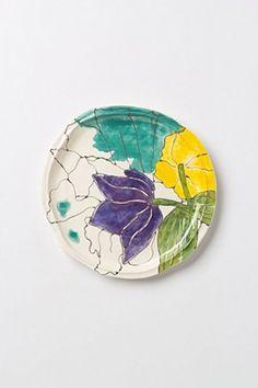 Palette-Sketch Salad Plate | Anthropologie.eu