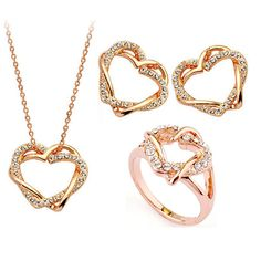 18K Real Gold Plated Jewelry Set with 18MM Ring (C5)