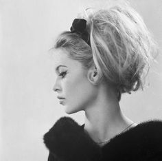 This sexy #sixties siren paired with the classic black eyeliner flick makes #BrigitteBardot a #HairHero