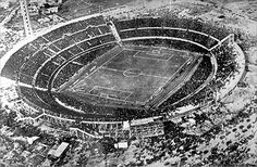 (AP Archive) 1930 World Cup in Montevideo, Uruguay. Travel )arrangements at the time meant only 13 teams participated.