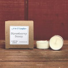 Strawberry Scoop - Soy Tea Light Candles