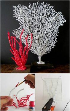 9. Build a coral wire sculpture.
