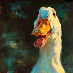 Quacker Jack - Oil by Cheri Christiansen