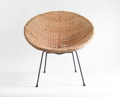 Vintage Mid Century Basket Chair--had this on my front porch when I was little