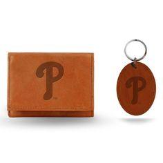 Philadelphia Phillies Wallet and Key Fob Set - Brown - $23.99