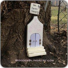 Fairy Garden, Fairy door, Unique, Purple Fairy Door, Opening, Doors, Birthday, Girls, Princess, Mothers Day, Specialty gifts, One of a Kind.