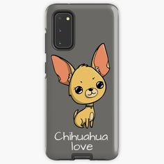 """""""Cute chihuahua love"""" Case & Skin for Samsung Galaxy by jakezbontar   Redbubble Samsung Cases, Samsung Galaxy, Phone Cases, Cute Chihuahua, Love S, Fur Babies, Paisley, Phone Case"""