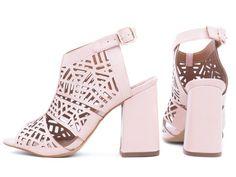 6c0705de0 ShoeGirls Sapato · Sandálias · Sandália Rosa Feminina Com Corte a Laser -  Torricella.