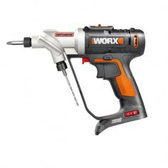 WORX SwitchDriver Max Cordless Drill (Charger Included) at Lowe's. The Worx switch driver is a compact cordless drill driver that holds two bits simultaneously. Hvac Tools, Stripped Screw, Cordless Drill Reviews, Woodworking Power Tools, Woodworking Projects, Diy Projects, Hand Tool Sets, Drill Set, Phillips Screwdriver