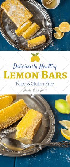 Delicious Healthy Paleo Lemon Bars (Gluten Free)