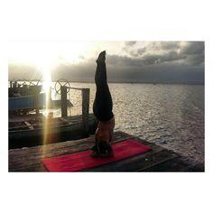 Yoga sunset love