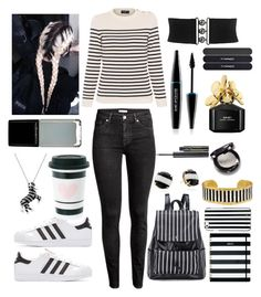 """Stripes"" by ggracie ❤ liked on Polyvore featuring Saint James, Kate Spade, H&M, MICHAEL Michael Kors, adidas Originals, Évocateur, Effy Jewelry, Illamasqua, Elizabeth Arden and Marc Jacobs"