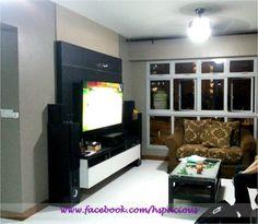 HDB TV Console Feature Wall Dining Area Design, Console, Living Spaces, Flat Screen, Design Inspiration, Tv, Wall, Blood Plasma, Flatscreen