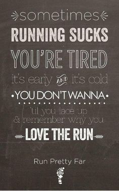 Love running ! I have to force my husband to run with me sometimes. He only runs when he's shredding but I make sure to keep his endurance up .