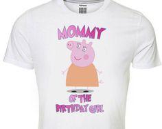 Peppa Pig Aunty of the Birthday girl Iron on por sohappyshop