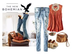 """""""New Boho"""" by alynncameron ❤ liked on Polyvore featuring maurices and American Eagle Outfitters"""