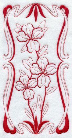 Australian Art Nouveau Dampier (Redwork) design (G9138) from www.Emblibrary.com